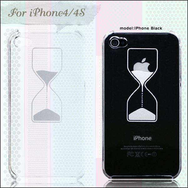 砂時計×りんごデザイン iPhoneケース