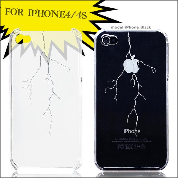 ゴロゴロ落雷デザイン iphone ケース スマホケース