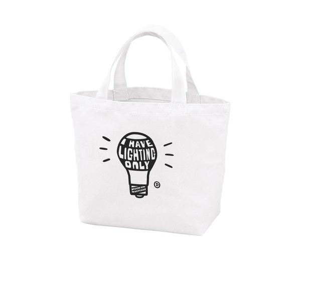 電球〜I HAVE LIGHTING ONLY〜  ポリキャンバストートバッグS 【受注生産品】