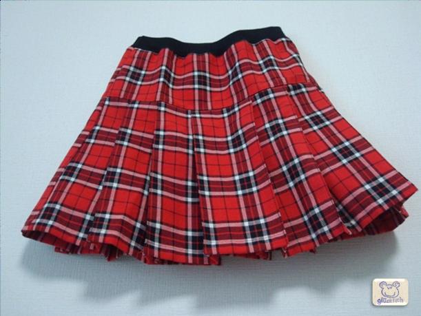 チェック柄プリーツスカート/110サイズ