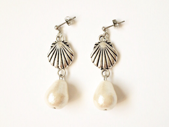 shell earrings (silver)