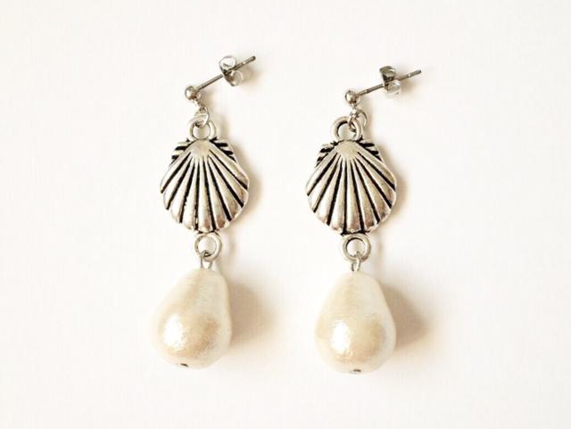 shell earrings (silver)