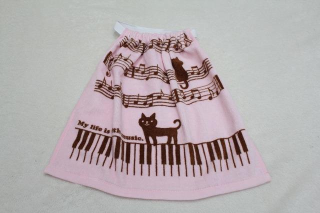 タオルエプロン music pink