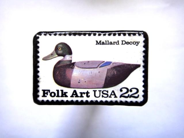 アメリカ 「鳥切手ブローチ」824