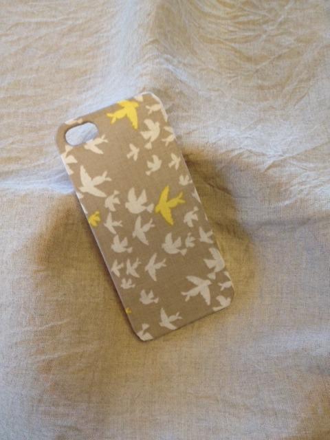 布張り iphone4/4sケース (バード)