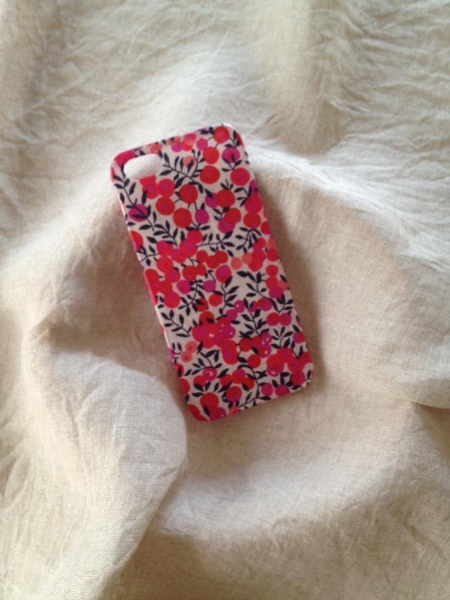 リバティ布張り iphone4/4sケース (ウィルトシャー ピンク)