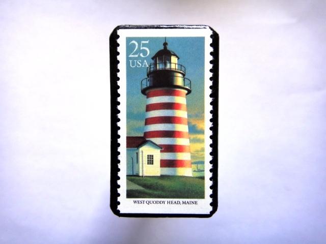 アメリカ 「灯台切手ブローチ」826