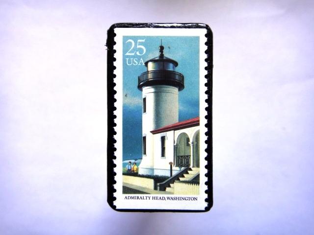 アメリカ 「灯台切手ブローチ」827