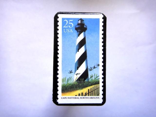アメリカ 「灯台切手ブローチ」828