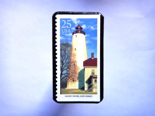 アメリカ 「灯台切手ブローチ」829