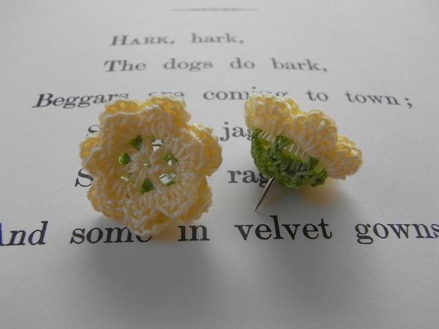 花画びょう(3個1組)イエロー