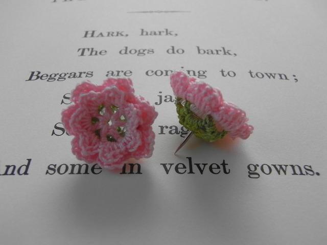 花画びょう(3個1組)ピンク