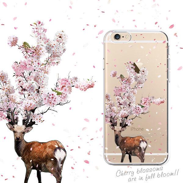 iphone ケース 鹿桜