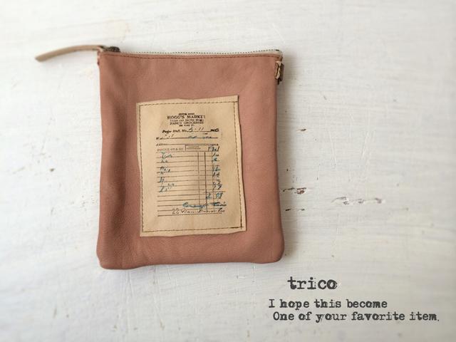 革の紙切れポーチ