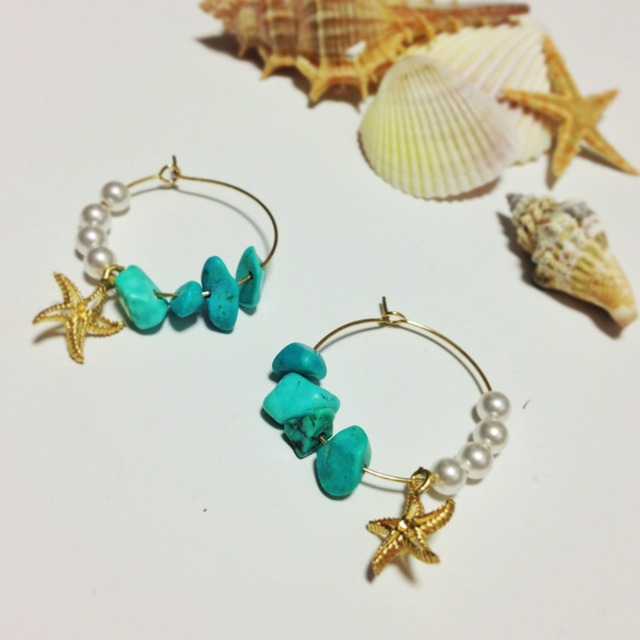 Gift from the sea (Pearl and Turquoise)