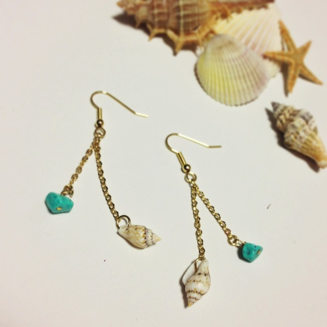Gift from the sea (Shell and Turquoise)