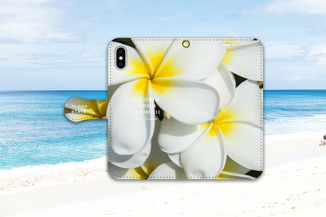 【手帳型iPhoneケース】Plumeria Hawaiian Yellow