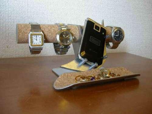 腕時計スタンド 腕時計&携帯電話、小物入れスタンド