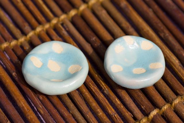 水玉箸置き(ペーパーウェイト)2個