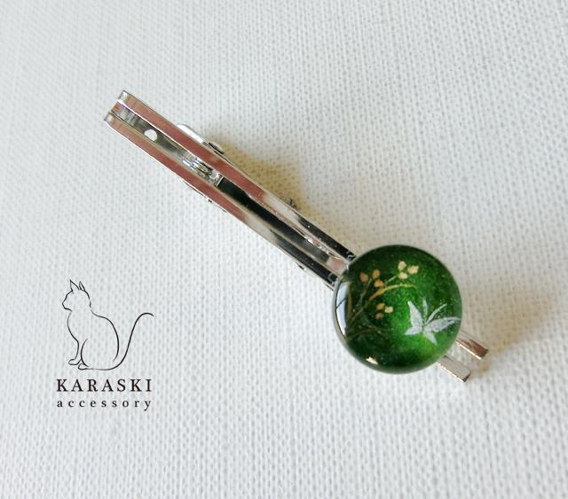 ネクタイピン小046/蝶とペンペン草