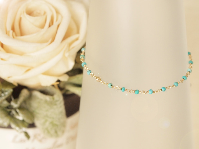 14KGF Turquoise Bracelet