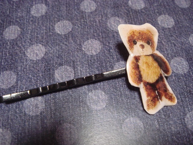 クマのぬいぐるみ★ヘアピン