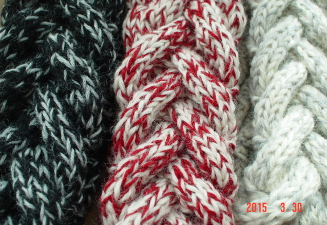 ツイード調の Braided Headband「3」