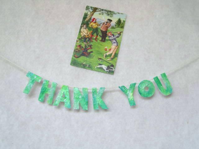 若草色のありがとうのガーランド