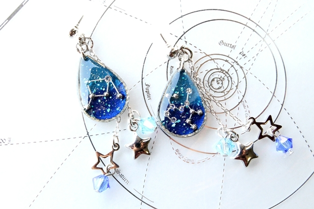 [sa-98さまご依頼品]星のしずくピアス