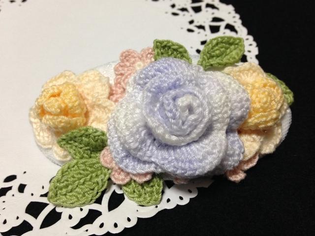 ♪お花のバレッタ レース編みで♪