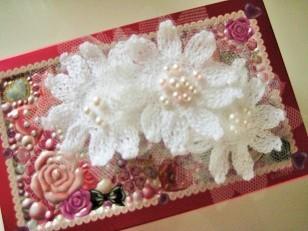 白い花のバレッタ