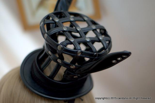 ウサミミ・バードケージ(鳥かご)・ミニハット 黒