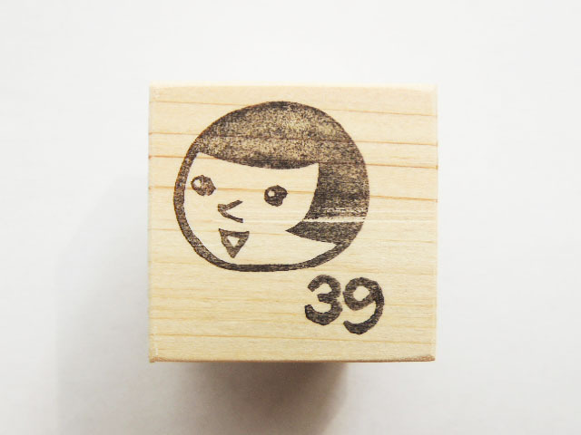 【soldout】「こけしちゃん」のサンキュー!消しゴムハンコ