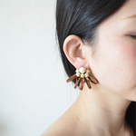 "Sucre【レザーピアス】color""brown"""