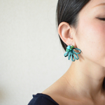 "Sucre【レザーピアス】color""turquoise"""