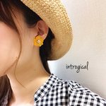 Yellow Flower * ピアス