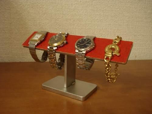 レッド4本掛け時計ケース風腕時計スタンド