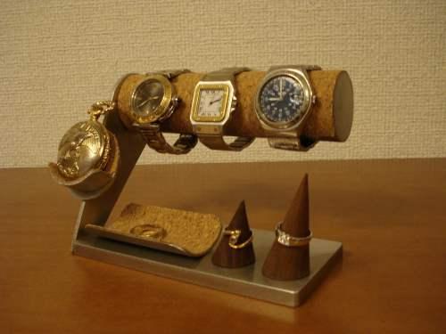 腕時計、懐中時計、ダブルリングトレイスタンド