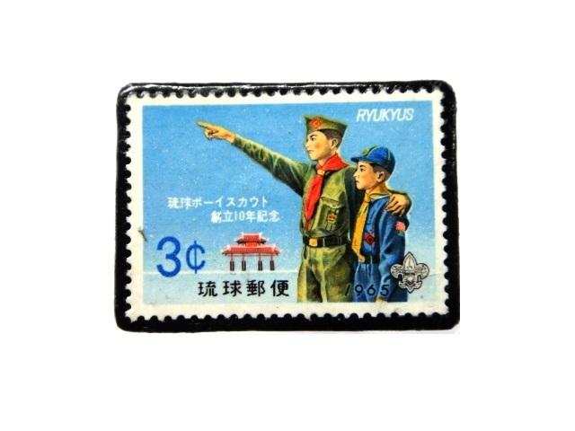 日本(沖縄)1965年「ボーイスカウト切手ブローチ」850