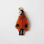 "//七宝焼き//""Butterfly  man""brooch."