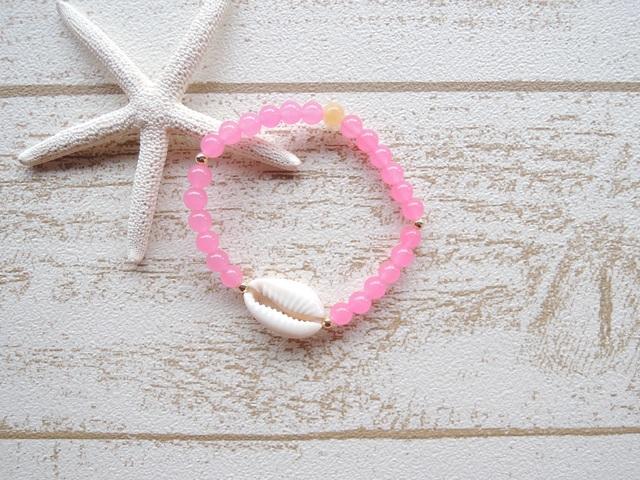 Pink カルセドニー Shell ブレス