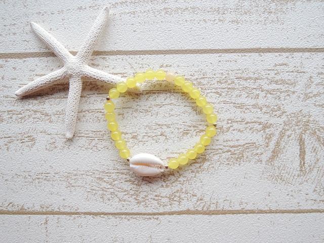 Yellow カルセドニー Shell ブレス