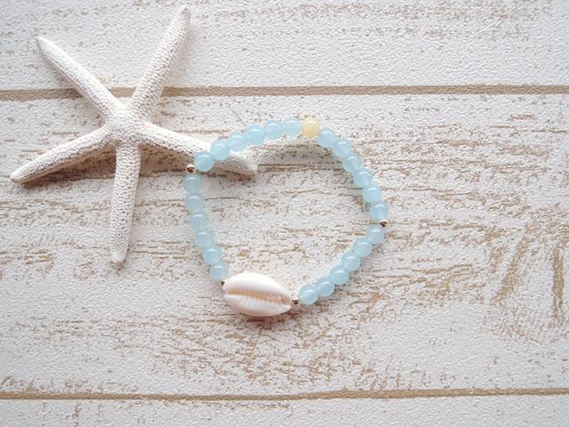 Blue カルセドニー Shell ブレス