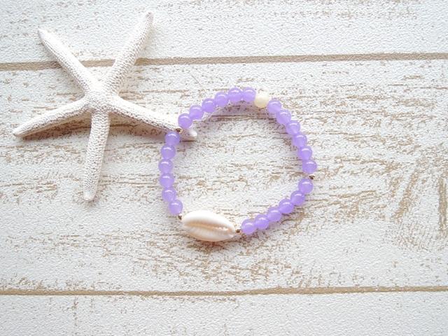 Purple カルセドニー Shell ブレス