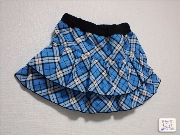 2段フリルミニスカート/90〜100サイズ
