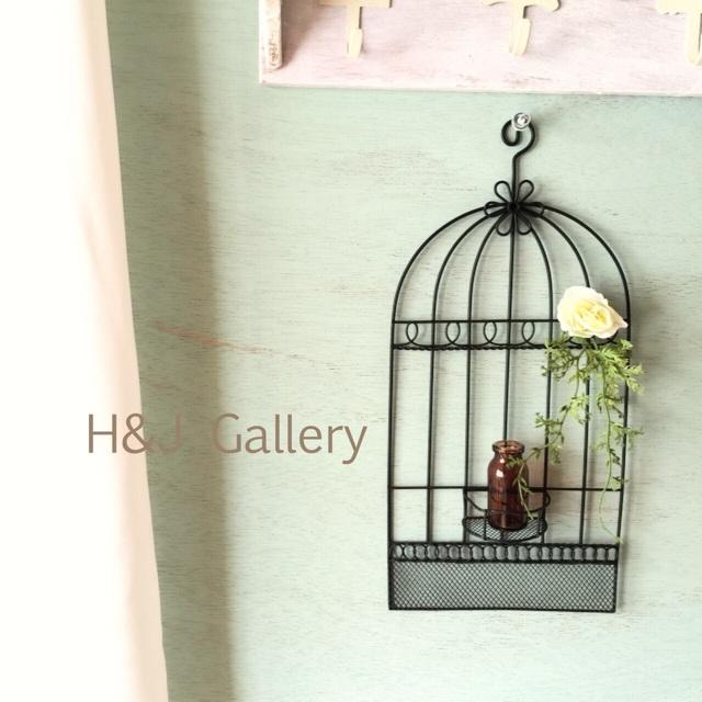 ○鳥かごの壁飾り