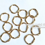 import metal ring twist 17mm 8pieces
