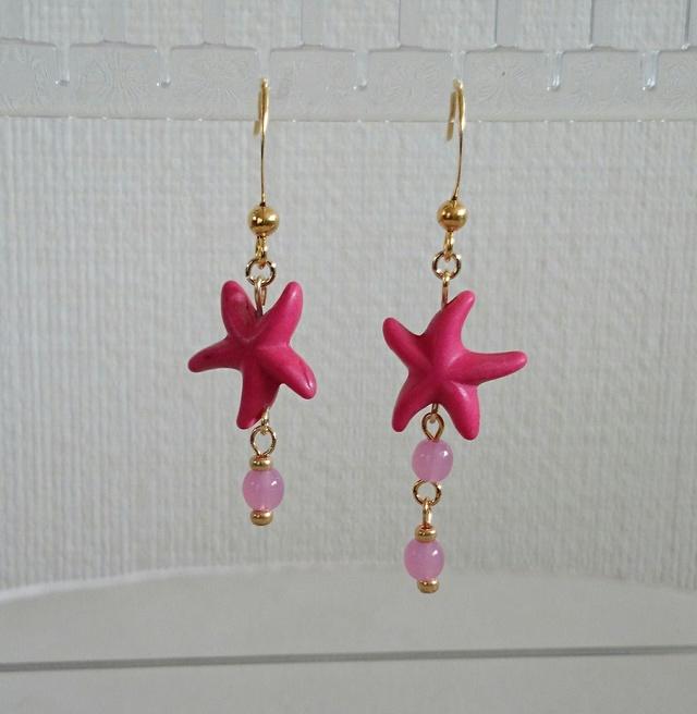 starfish ピアス pink