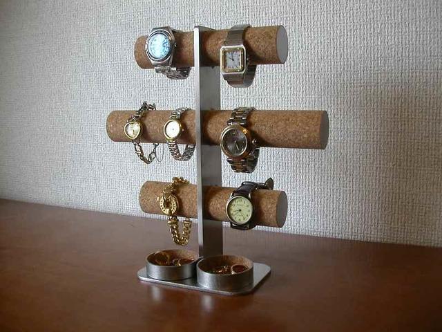 8本掛け腕時計スタンド 丸パイプトレイバージョン