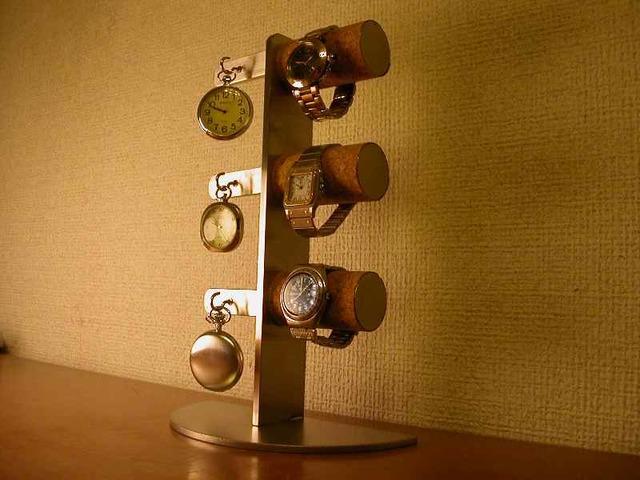 懐中時計収納!腕時計&懐中時計スタンド スタンダード